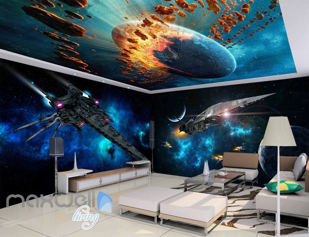 3d star wall spacecraft battle wall murals wallpaper paper art 3d star wall spacecraft battle wall murals wallpaper paper art print decor idcqw 000340