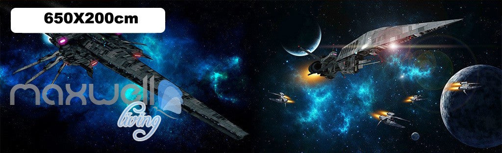 3D Star Wall Spacecraft Battle Wall Murals Wallpaper Paper Art Print Decor IDCQW-000340