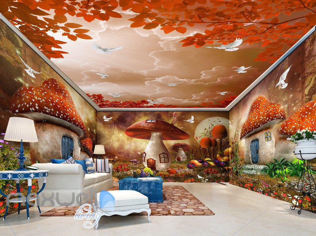 For Georgi:3D Fantacy Garden Wall Murals Wallpaper Paper Art Print Decor IDCQW-000371