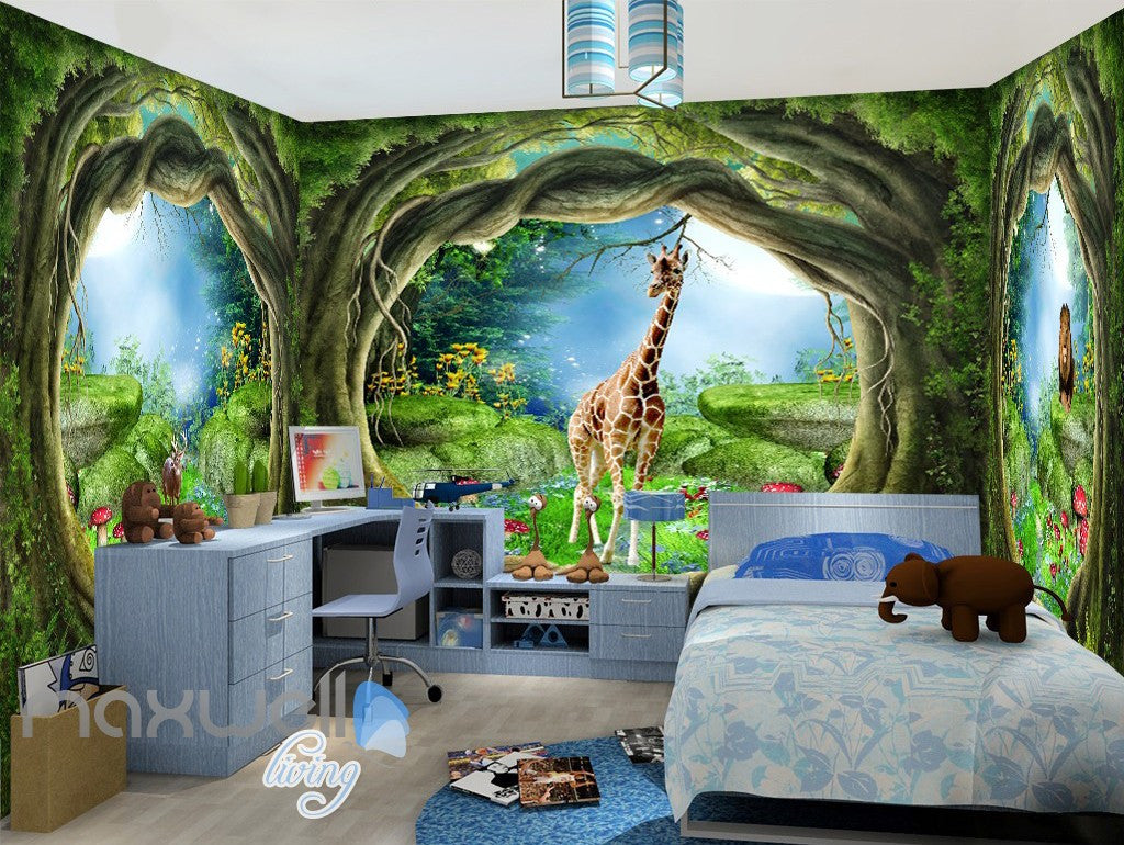 3d wonder land hole view wall murals wallpaper paper art for Mural 3d wallpaper