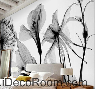 Image of Transparent Dandelion Flowers Modern 000005 Wallpaper Wall Decals Wall Art Print Mural Home Decor Gift Office Business