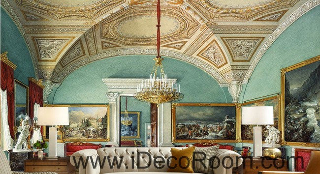 Classic Arch Roof Oil Painting 000008 Wallpaper Wall Decals Wall Art Print Mural Home Decor Gift Office Business