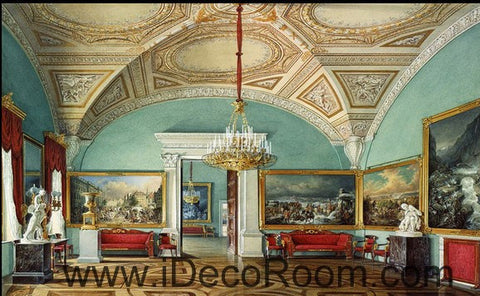 Image of Classic Arch Roof Oil Painting 000008 Wallpaper Wall Decals Wall Art Print Mural Home Decor Gift Office Business
