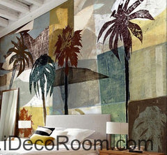 Palm Tree Island Abstract Mordern 000018 Wallpaper Wall Decals Wall Art Print Mural Home Decor Gift Office Business