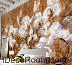 White Orchid Abstact Mordern Art 000021 Wallpaper Wall Decals Wall Art Print Mural Home Decor Gift Office Business
