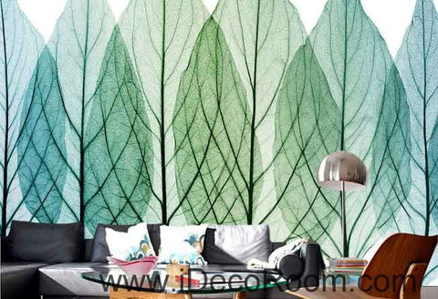 Image of Transparant Tree Leaves Watercolor Wallpaper Wall Decals Wall Art Print Mural Home Decor Gift Office Business
