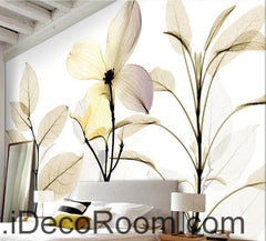 Watercoler white flower illustration IDCWP-000034 Wallpaper Wall Decals Wall Art Print Mural Home Decor Gift