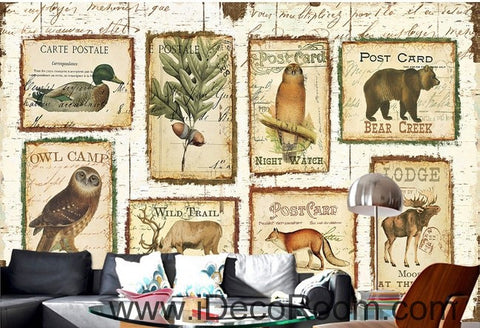 Image of Old stamp IDCWP-000050 Wallpaper Wall Decals Wall Art Print Mural Home Decor Gift
