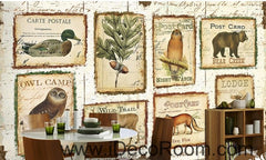 Old stamp IDCWP-000050 Wallpaper Wall Decals Wall Art Print Mural Home Decor Gift