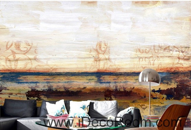 Abstract Beach Ocean IDCWP-000071 Wallpaper Wall Decals Wall Art Print Mural Home Decor Gift