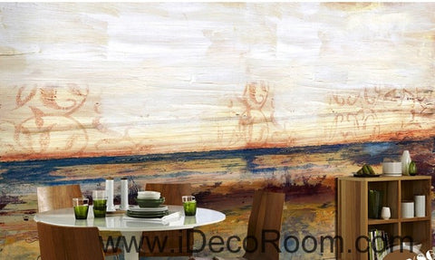 Image of Abstract Beach Ocean IDCWP-000071 Wallpaper Wall Decals Wall Art Print Mural Home Decor Gift