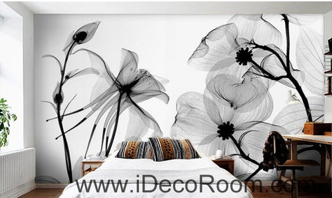 Image of Transparent Flower Petals IDCWP-000079 Wallpaper Wall Decals Wall Art Print Mural Home Decor Gift