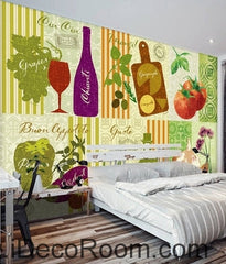 Dream fresh  tomatoes fruit and vegetable pattern wall art wall decor mural wallpaper wall  IDCWP-000088
