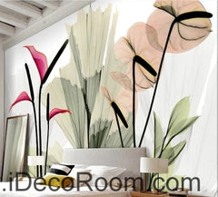 A beautiful dream fresh red blooming calla lily transparent wall art wall decor mural wallpaper wall  IDCWP-000099