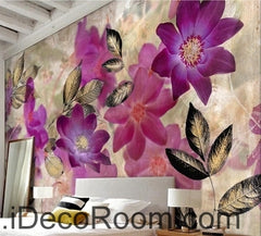 A beautiful dream of fresh and beautiful red blooming flowers Gesang Hua oil painting effect wall art wall decor mural wallpaper wall  IDCWP-000104