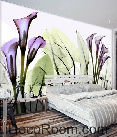 A beautiful dream fresh and romantic Purple flowers in full bloom wall art wall decor mural wallpaper wall  IDCWP-000108