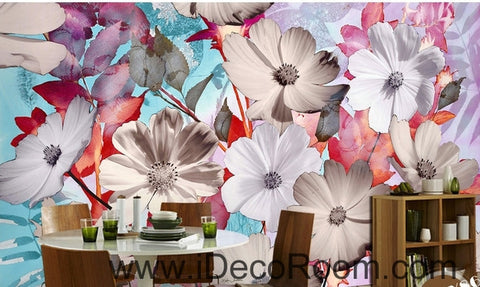 Image of A beautiful dream of fresh and in full bloom Gesang flowers overlap painting wall art wall decor mural wallpaper wall  IDCWP-000119