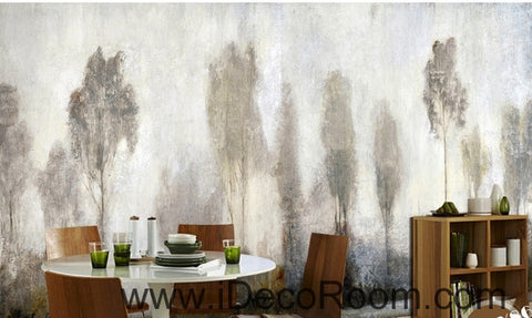 Image of Beautiful dream mystery haze in the abstract pine forest oil painting effect wall art wall decor mural wallpaper wall  IDCWP-000139