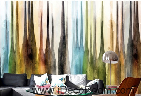 Image of European retro color abstract bottle oil painting effect wall art wall decor mural wallpaper wall  IDCWP-000150