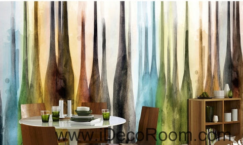 European retro color abstract bottle oil painting effect wall art wall decor mural wallpaper wall  IDCWP-000150
