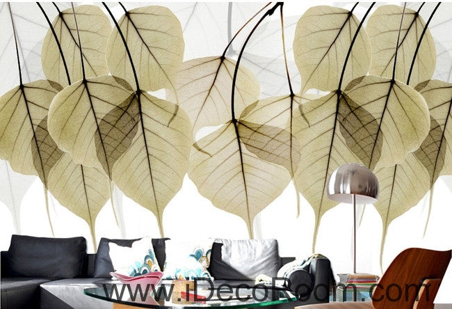 Beautiful dream to do the old retro transparent small round leaves overlapping wall art wall decor mural wallpaper wall  IDCWP-000169