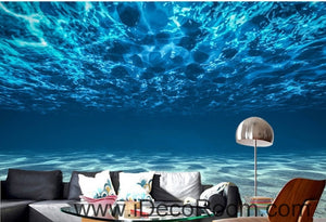 A beautiful dream fresh blue clear sea water wall art wall decor mural wallpaper wall  IDCWP-000193
