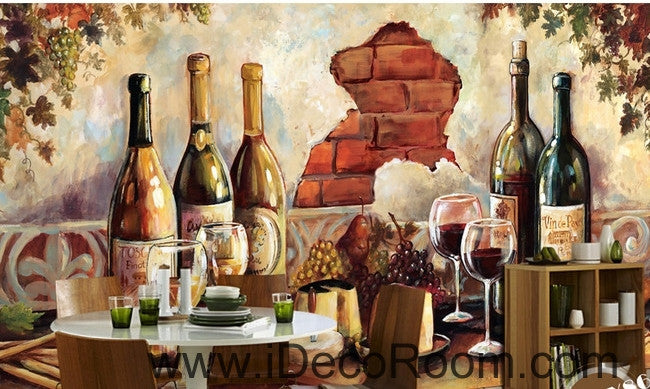 Retro oil painting effect wall art wall decor mural wallpaper wall  IDCWP-000204