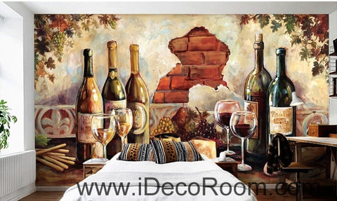 Image of Retro oil painting effect wall art wall decor mural wallpaper wall  IDCWP-000204