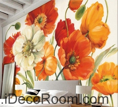 A beautiful dream of fresh and colorful blooming poppy flower a beautiful dream of fresh and colorful blooming poppy flower painting wall art wall decor mural mightylinksfo