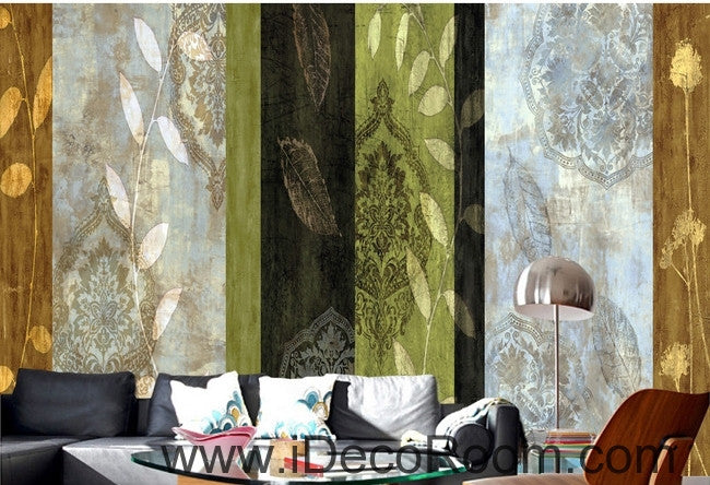 Retro color pattern lines splicing painting wall art wall decor mural wallpaper wall  IDCWP-000248