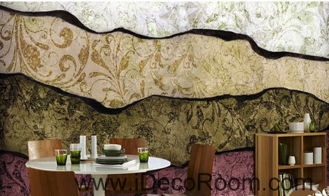 Retro to do the old abstract lines Patterns of the oil painting effect wall art wall decor mural wallpaper wall  IDCWP-000266