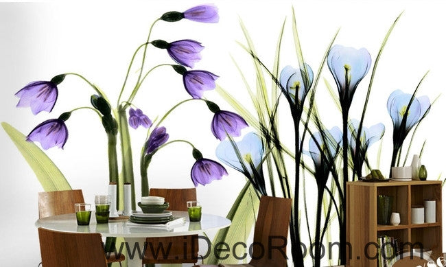 Beautiful dream fresh romantic purple blue tulip orchid transparent flowers IDCWP-000272