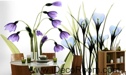 Image of Beautiful dream fresh romantic purple blue tulip orchid transparent flowers IDCWP-000272