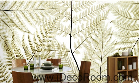 Image of Beautiful dream retro old ferns transparent leaves wall art wall decor mural wallpaper wall  IDCWP-000280