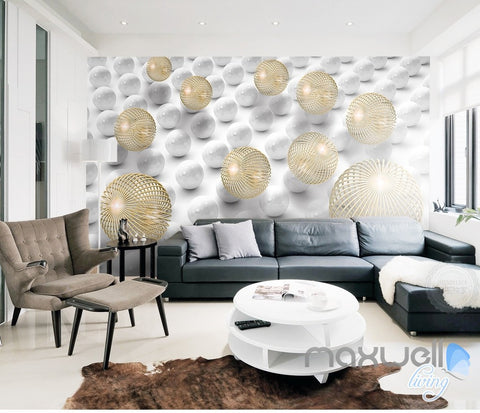 Image of 3D Modern Abstract Sphere 5D Wall Paper Mural Art Print Decals Office Decor IDCWP-3DB-000002