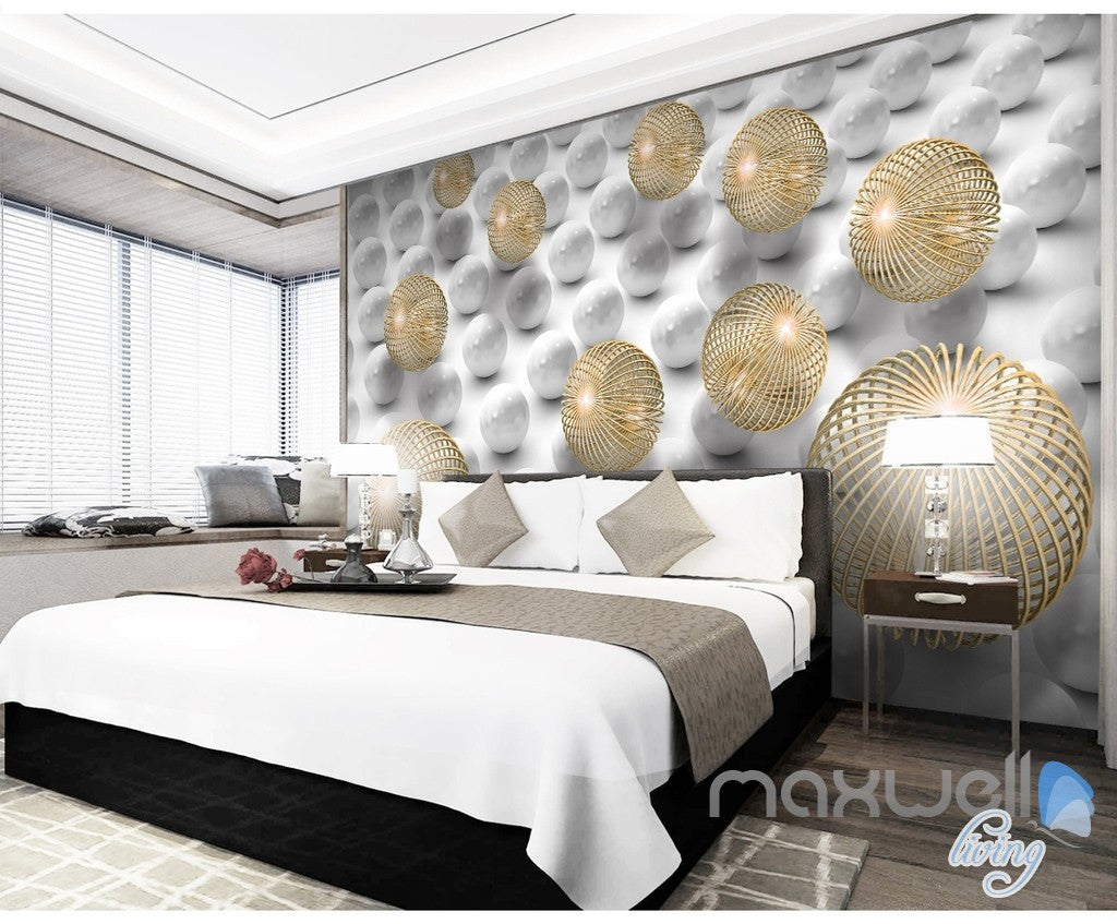3D Modern Abstract Sphere 5D Wall Paper Mural Art Print Decals Office Decor IDCWP-3DB-000002