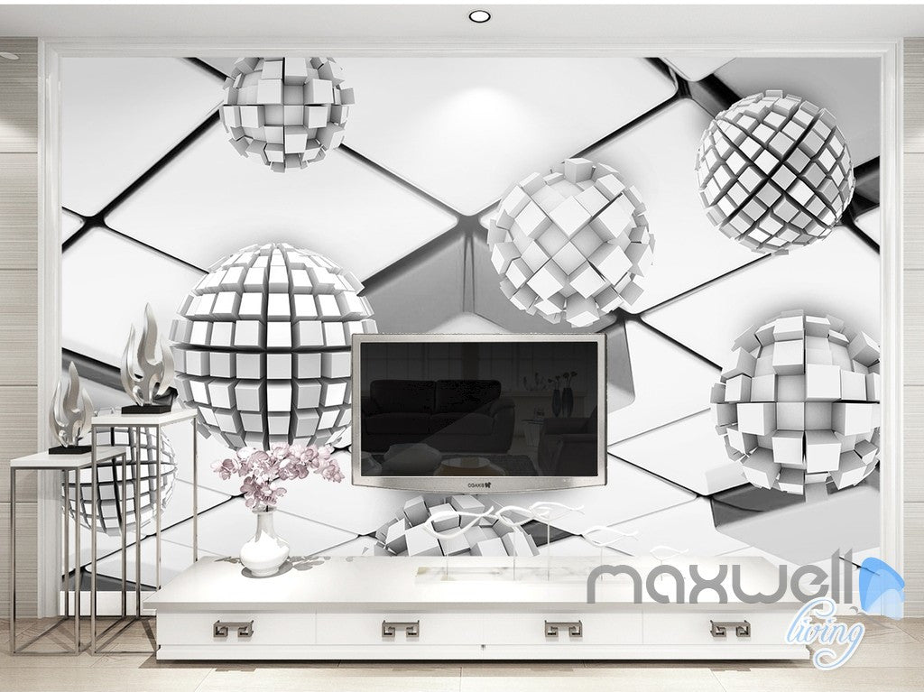 3D Modern Square 5D Wall Paper Mural Art Print Decals Business Decor IDCWP-3DB-000003