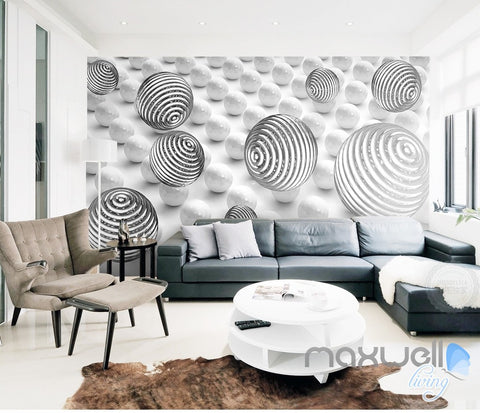 Image of 3D Line Sphere Ball 5D Wall Paper Mural Modern Art Print Decals Room Decor  IDCWP-3DB-000006