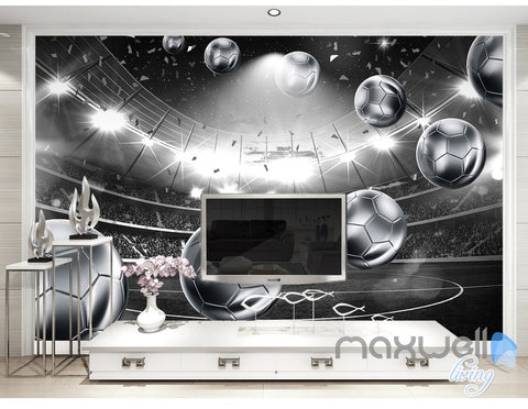 Image of 3D Footbal Soccer Stadium Wall Paper Mural Art Print Decals Business Decor IDCWP-3DB-000011