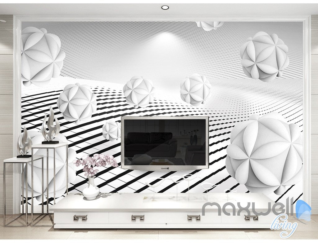 3D Puzzle Ball 5D Wall Paper Mural Modern Art Print Decals Business Decor IDCWP-3DB-000016
