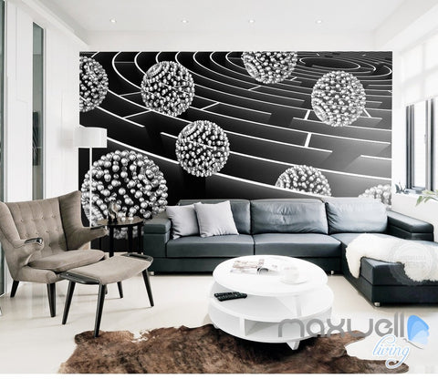 3D Modern Maze Ball 5D Wall Paper Mural Art Print Decals Living Room Decor IDCWP-3DB-000019