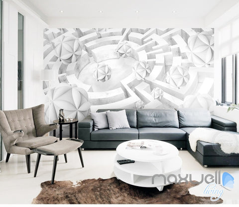 Image of 3D Maze Ball 5D Wall Paper Mural Art Print Decals Modern Living Room Decor IDCWP-3DB-000021
