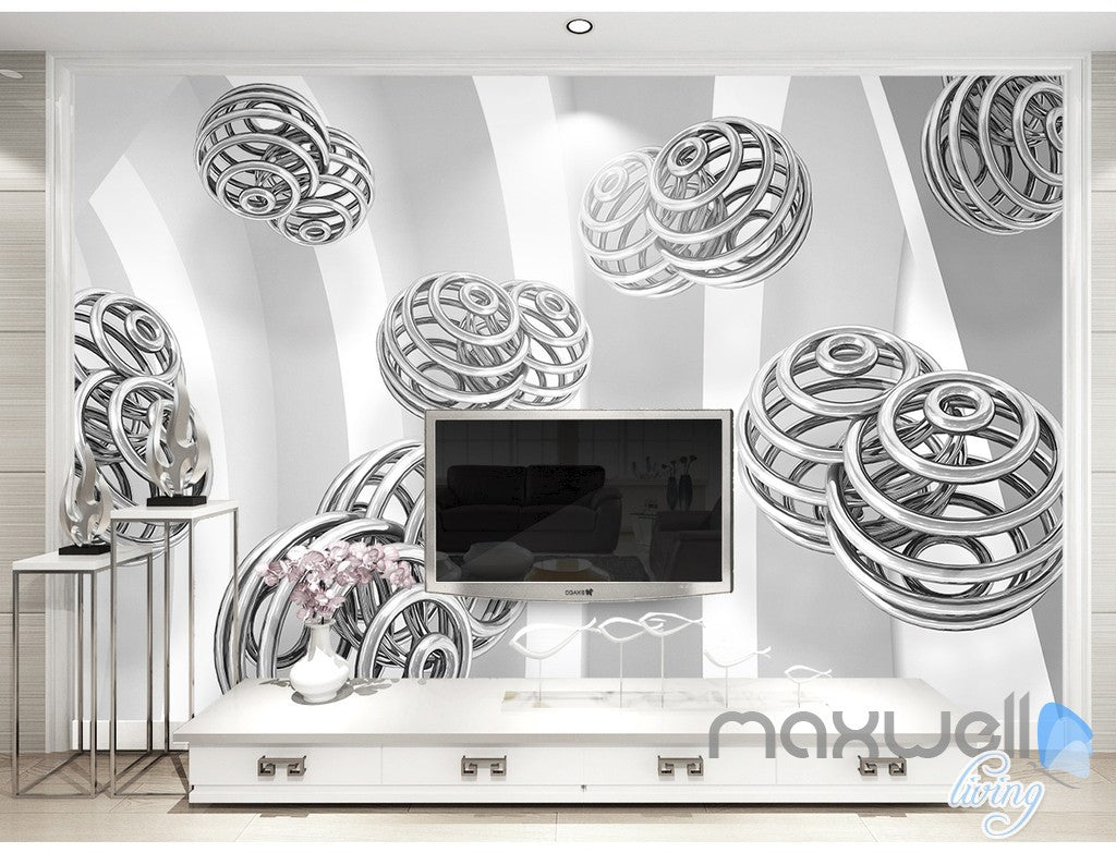 3D Spin Ball 5D Wall Paper Mural Art Print Decals Modern Bedroom Decor IDCWP-3DB-000022