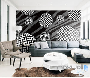 3D Pattern Sphere 5D Wall Paper Mural Art Print Decals Modern Bedroom Decor IDCWP-3DB-000023