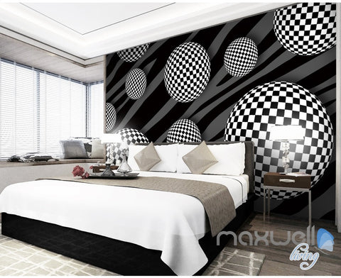 Image of 3D Pattern Sphere 5D Wall Paper Mural Art Print Decals Modern Bedroom Decor IDCWP-3DB-000023