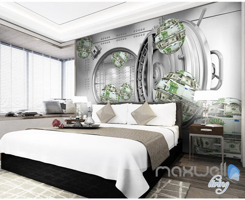 Image of 3D Money Ball Bank 5D Wall Paper Mural Modern Art Print Decals Decor IDCWP-3DB-000034