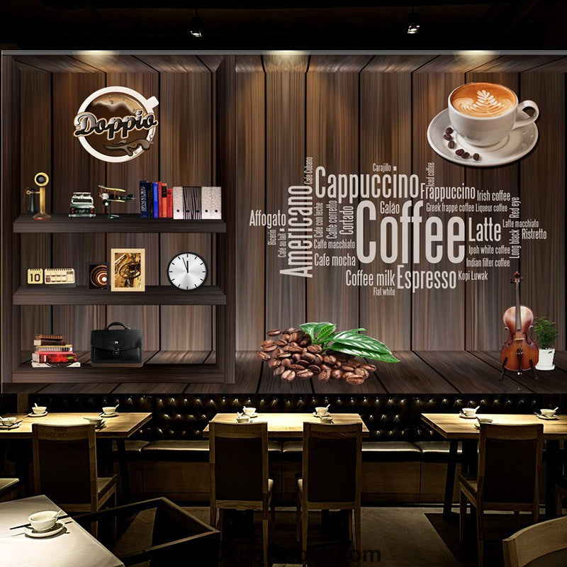 Coffee shop Wallpaper Coffee Club Cafe Wall Murals IDCWP ...