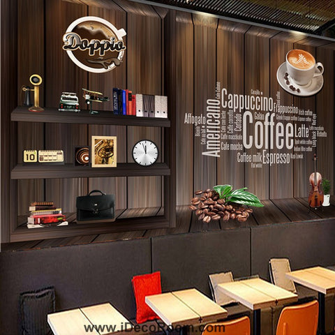 Image of Coffee shop Wallpaper Coffee Club Cafe Wall Murals IDCWP-CF-000001