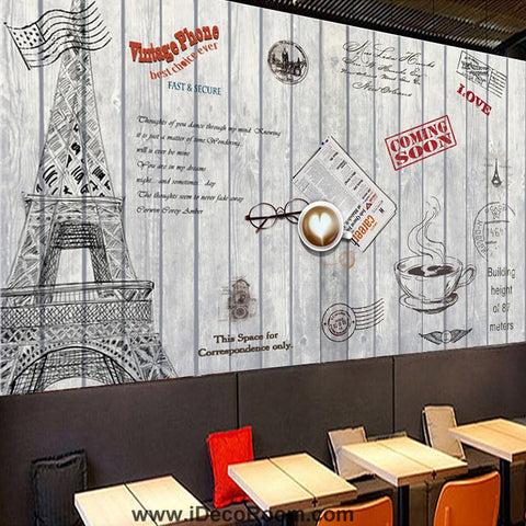 Image of Coffee shop Wallpaper Coffee Club Cafe Wall Murals IDCWP-CF-000004