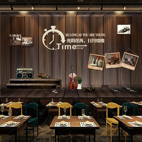 Image of Coffee shop Wallpaper Coffee Club Cafe Wall Murals IDCWP-CF-000006